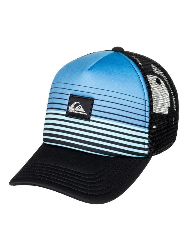 0 Boy's 2-7 Stripe Block Trucker Hat  AQKHA03172 Quiksilver