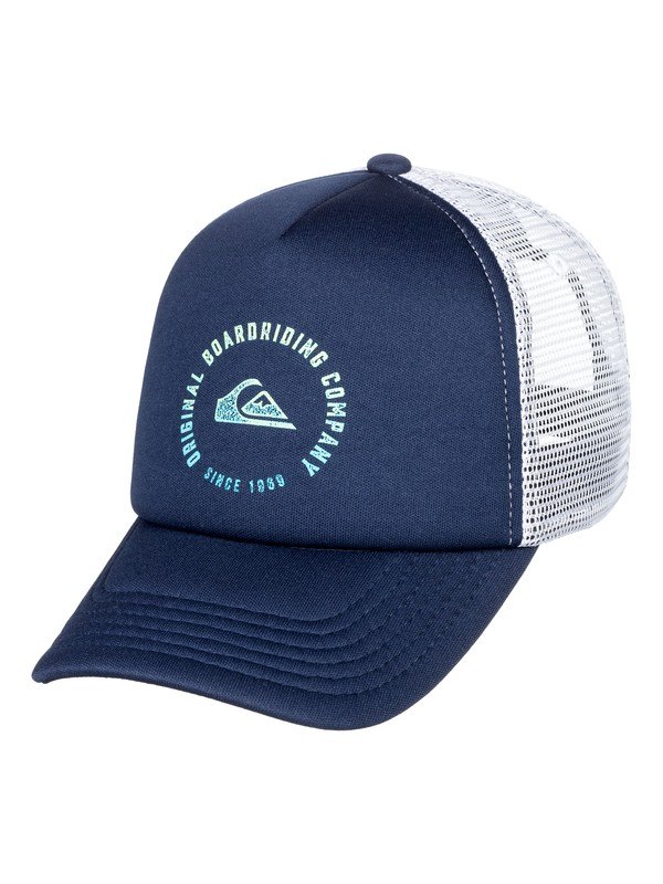 0 Boy's 2-7 Beast Model Trucker Hat Blue AQKHA03234 Quiksilver