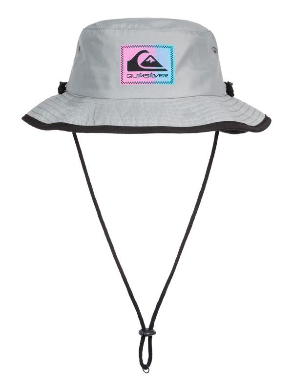 0 Boy's 2-7 Neck Shadow Bucket Hat Grey AQKHA03237 Quiksilver