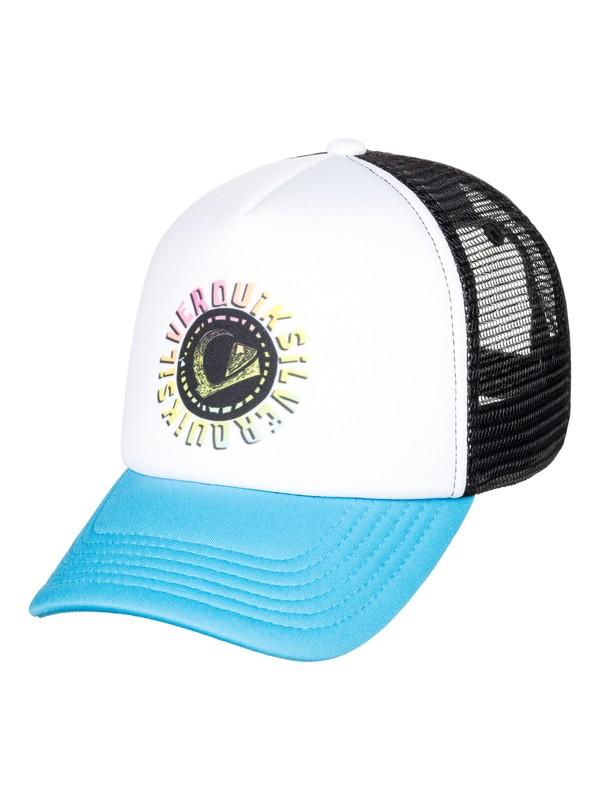 0 Boy's 2-7 Mini Whiner Trucker Hat White AQKHA03243 Quiksilver