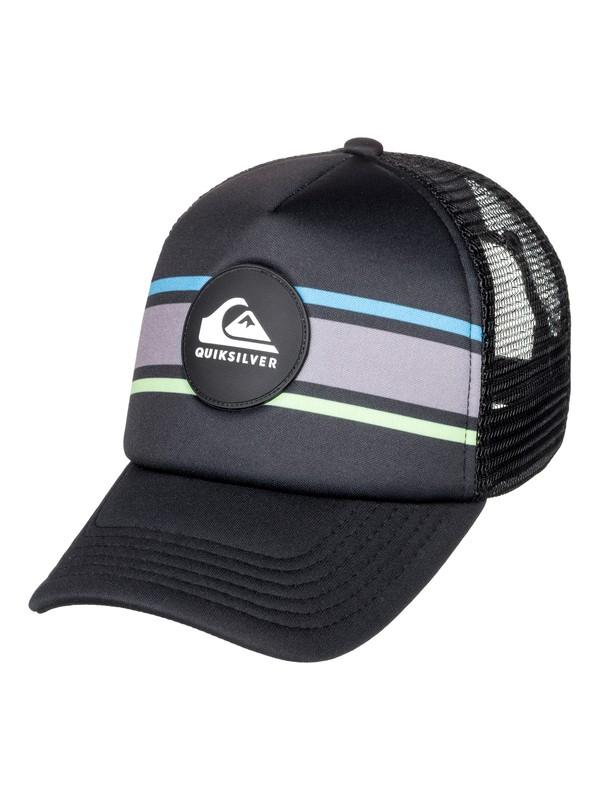 0 Boy's 2-7 Seasons Debate Trucker Hat Black AQKHA03244 Quiksilver