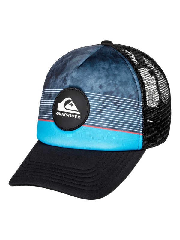 0 Boy's 2-7 Stripe Pipe Trucker Cap Red AQKHA03261 Quiksilver