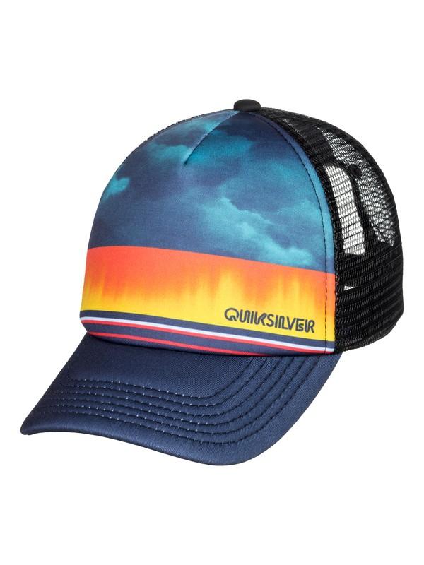 0 Boy's 2-7 Slab Dripper Trucker Hat Blue AQKHA03276 Quiksilver