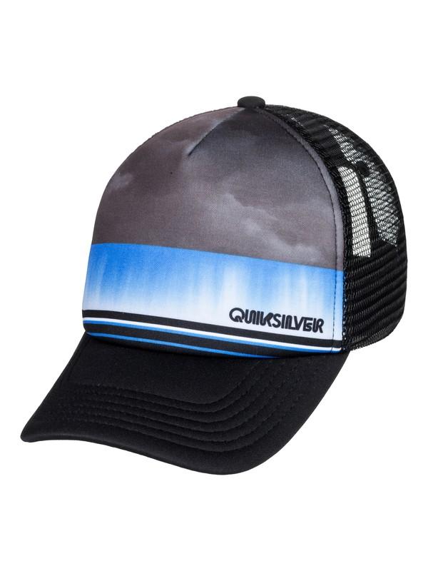 0 Boy's 2-7 Slab Dripper Trucker Hat Black AQKHA03276 Quiksilver