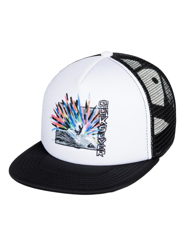 0 Boy's 2-7 Snags Trucker Hat White AQKHA03279 Quiksilver