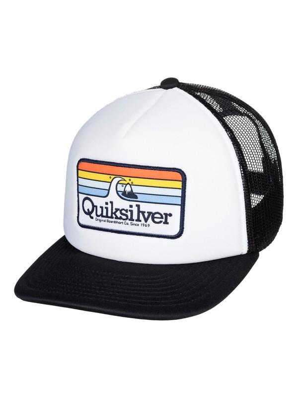 0 Boy's 2-7 Hessford Trucker Hat White AQKHA03280 Quiksilver