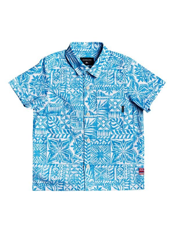 0 HI Hyper - Printed Short Sleeve Shirt Blanco AQKWT03040 Quiksilver