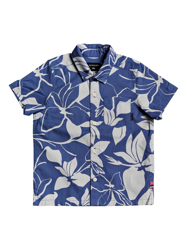 0 Boy's 2-7 HI Makala Short Sleeve Shirt Blue AQKWT03041 Quiksilver