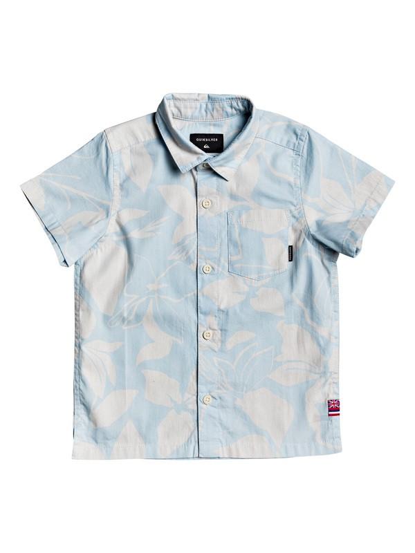 0 Boy's 2-7 HI Makala Short Sleeve Shirt White AQKWT03041 Quiksilver