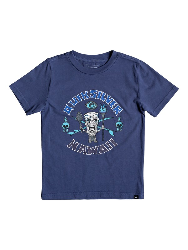 0 Boy's 2-7 Tiki Tee Blue AQKZT03442 Quiksilver