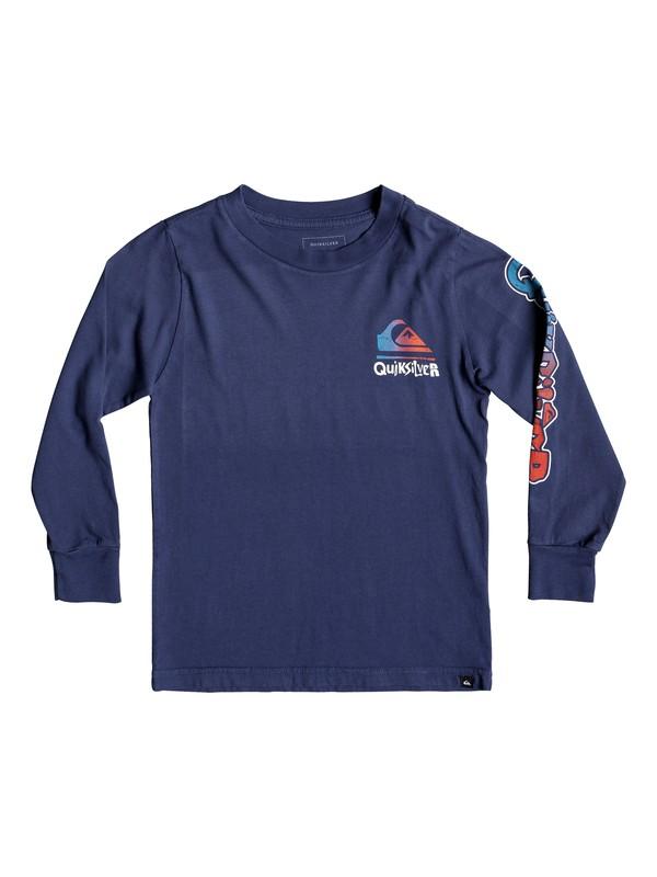 0 Boy's 2-7 Rebel Yell Long Sleeve Tee Blue AQKZT03447 Quiksilver