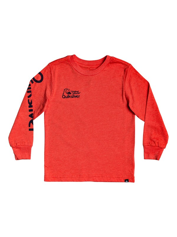 0 Boy's 2-7 Bouncing Heart Long Sleeve Tee Red AQKZT03508 Quiksilver