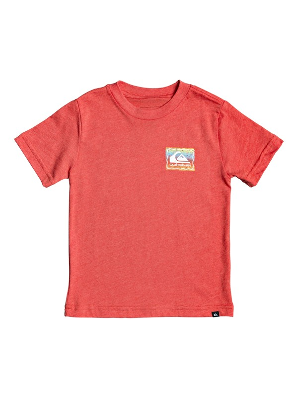 0 Boy's 2-7 Plaid Out Tee Red AQKZT03540 Quiksilver