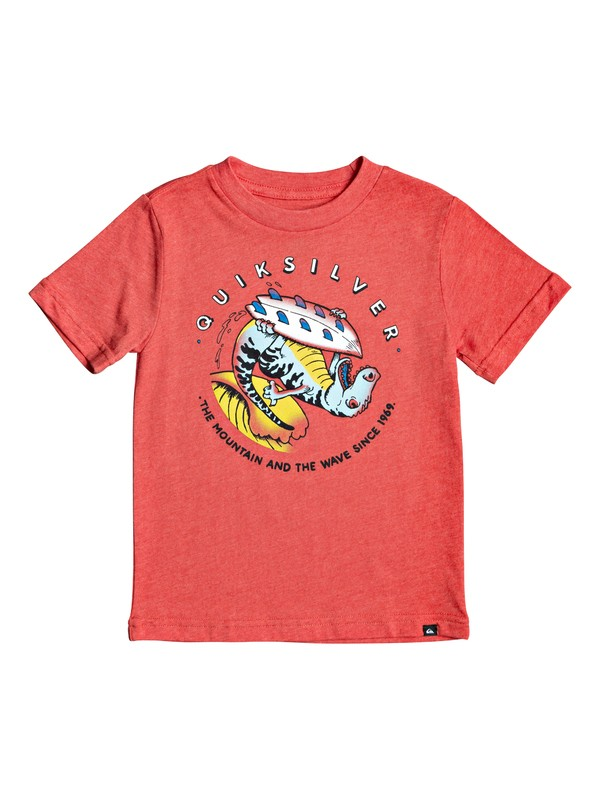 0 Boy's 2-7 Dino Surf Tee Red AQKZT03551 Quiksilver