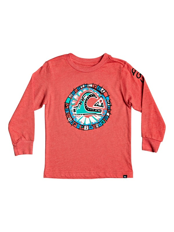0 Boy's 2-7 Roulet Long Sleeve Tee Red AQKZT03553 Quiksilver