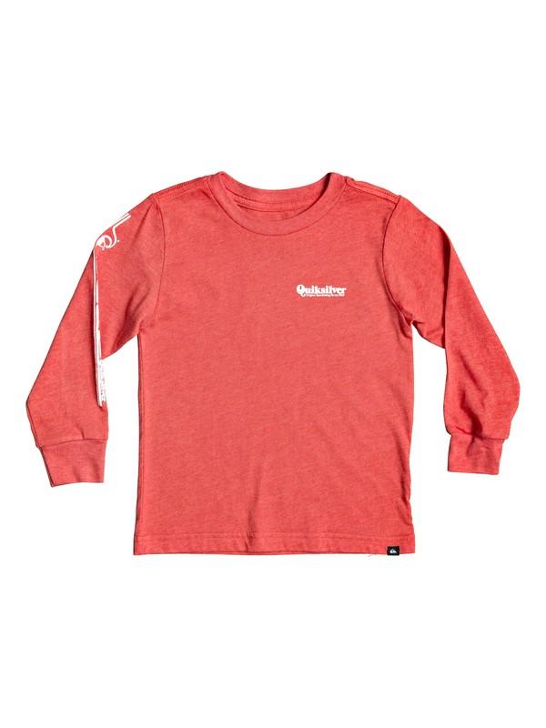 0 Boy's 2-7 Modern Script Long Sleeve Tee Red AQKZT03554 Quiksilver