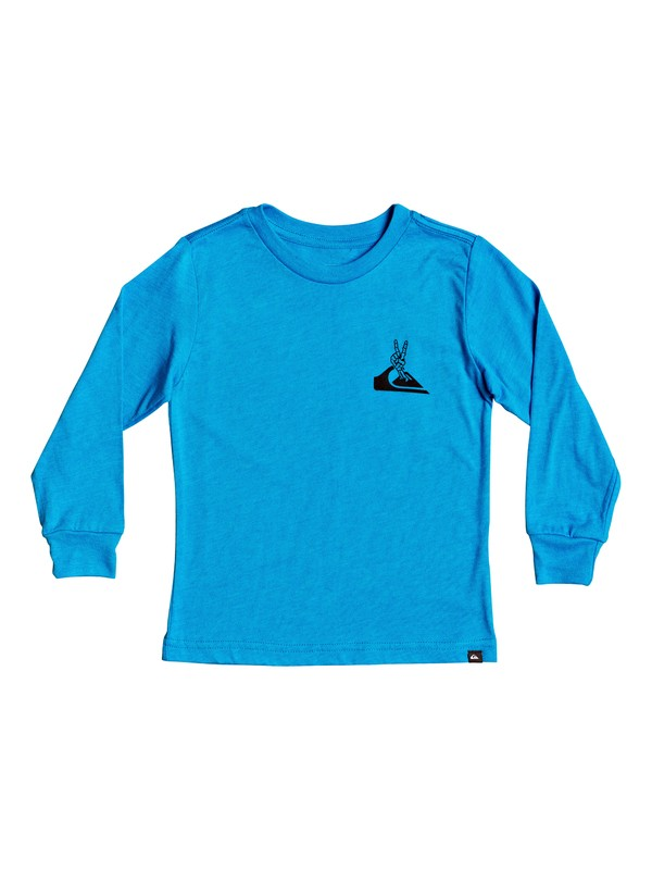 0 Boy's 2-7 Erupto Peace Long Sleeve Tee Blue AQKZT03555 Quiksilver