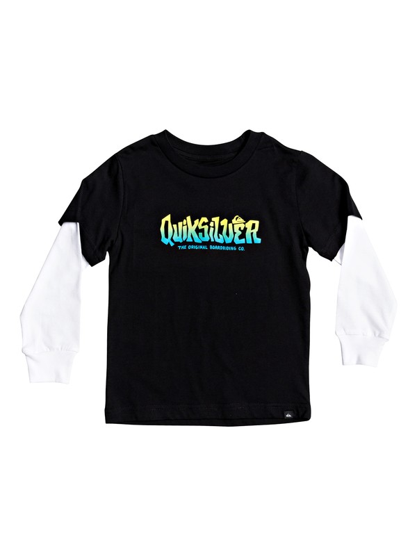 0 Boy's 2-7 Rough Play Double Sleeve Tee Black AQKZT03556 Quiksilver