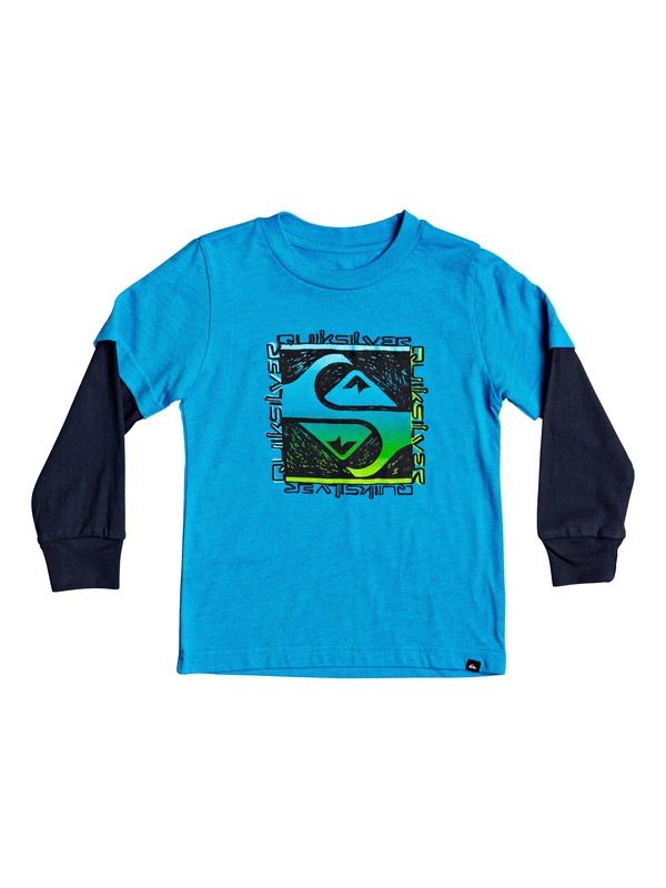 0 Boy's 2-7 Flip Out Double Sleeve Tee Blue AQKZT03557 Quiksilver