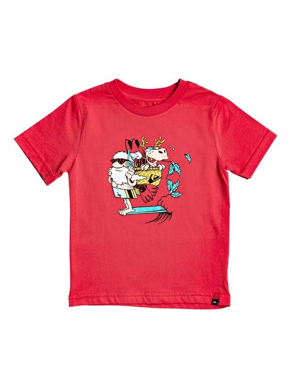 0 Boy's 2-7 Santa Pack Tee Red AQKZT03559 Quiksilver