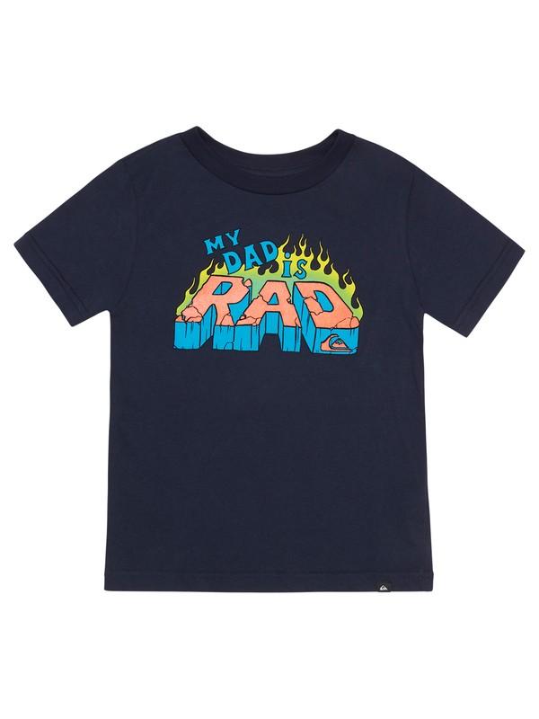 0 Boy's 2-7 Dad Is Rad Tee Blue AQKZT03653 Quiksilver
