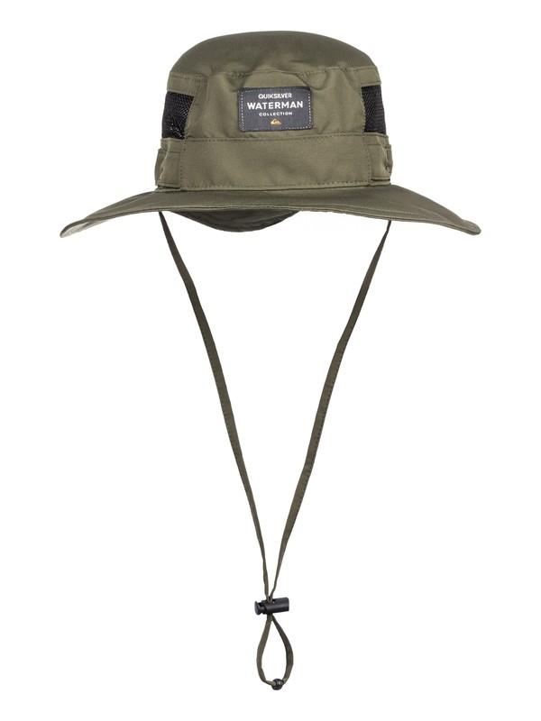 0 Waterman Hook Up Bucket Hat Brown AQMHA03097 Quiksilver