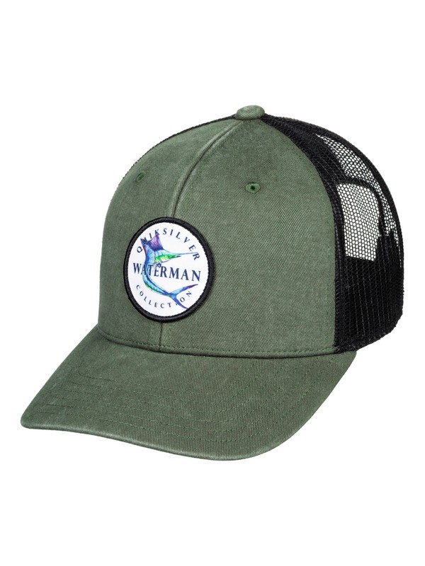 0 Waterman Jiggy With It Trucker Hat Green AQMHA03105 Quiksilver