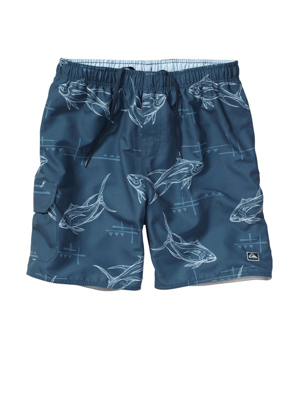 "0 Men's Pier 9 18"" Volley Boardshorts  AQMJV00016 Quiksilver"