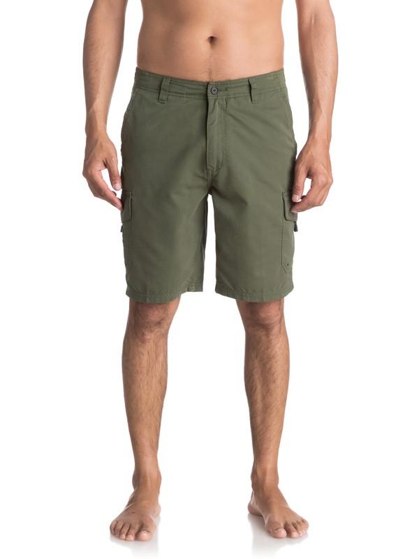 "0 Waterman Maldive 20"" Cargo Shorts Green AQMWS03043 Quiksilver"