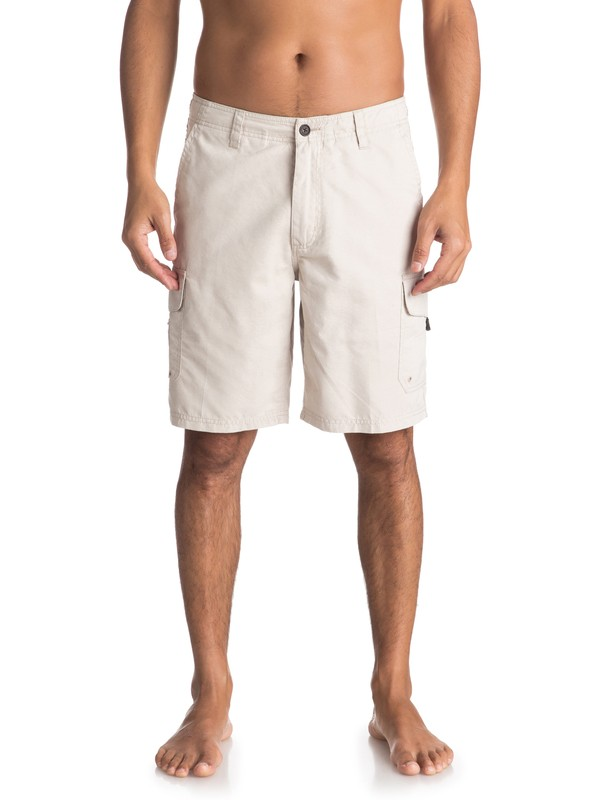 "0 Waterman Maldive 20"" Cargo Shorts Grey AQMWS03043 Quiksilver"