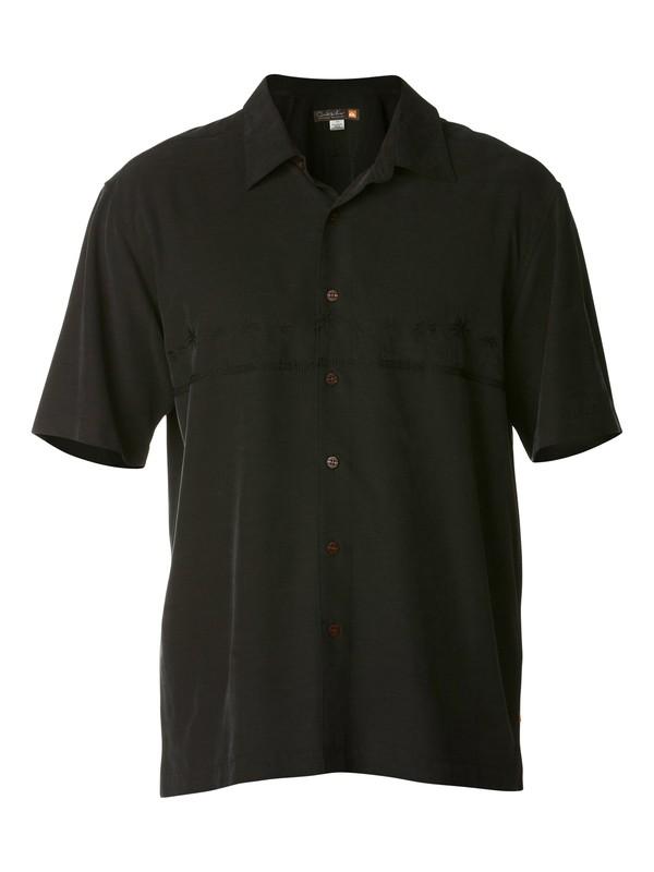 0 Men's Tahiti Palms Short Sleeve Shirt  AQMWT03039 Quiksilver