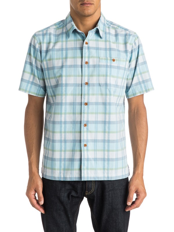 0 Waterman Idle Time - Short Sleeve Shirt  AQMWT03199 Quiksilver