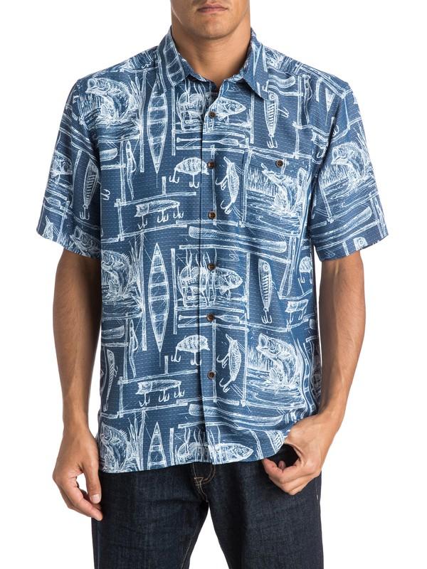 0 Waterman Depthfinder Short Sleeve Shirt  AQMWT03254 Quiksilver