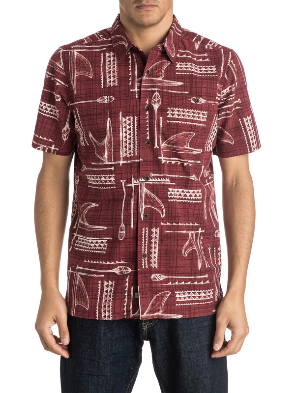 0 Waterman Foundation Short Sleeve Shirt  AQMWT03293 Quiksilver