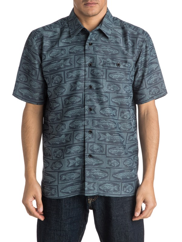 0 Waterman Bump The Stump - Short Sleeve Shirt  AQMWT03305 Quiksilver