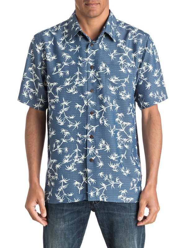 0 Waterman Skinny Palms - Short Sleeve Shirt  AQMWT03321 Quiksilver