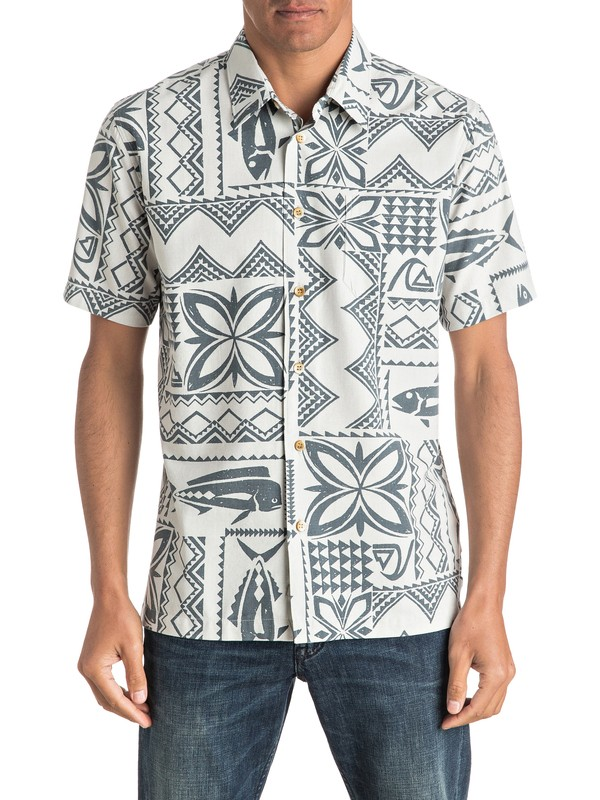 0 Waterman Fish Guru - Short Sleeve Shirt  AQMWT03322 Quiksilver