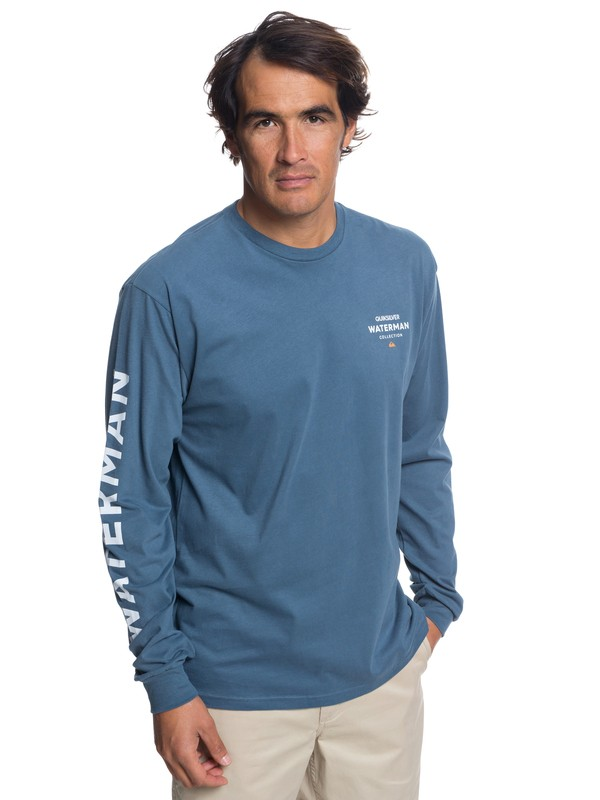 0 Waterman Righty Long Sleeve Tee Blue AQMZT03315 Quiksilver