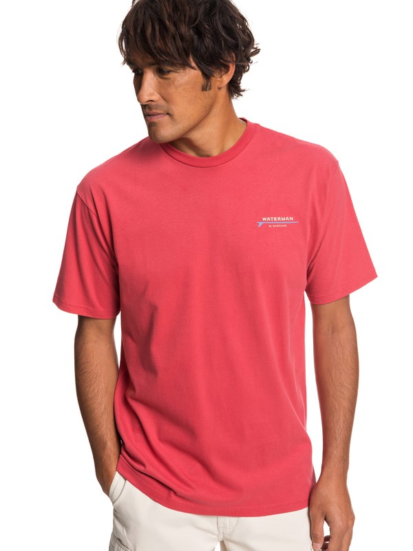 0 Waterman Adventures In Conversation Tee Red AQMZT03343 Quiksilver