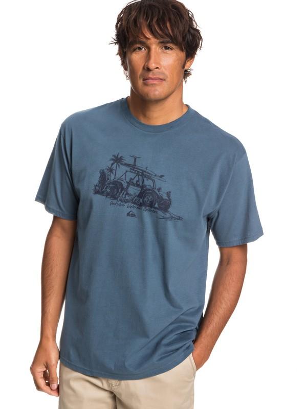 0 Waterman Traveller Tee Blue AQMZT03350 Quiksilver