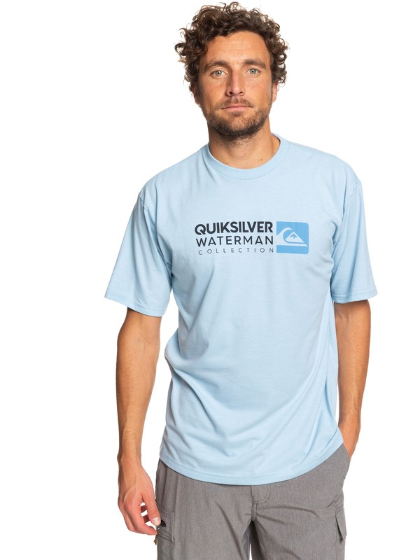 0 Waterman Return To Forever Tee Blue AQMZT03362 Quiksilver