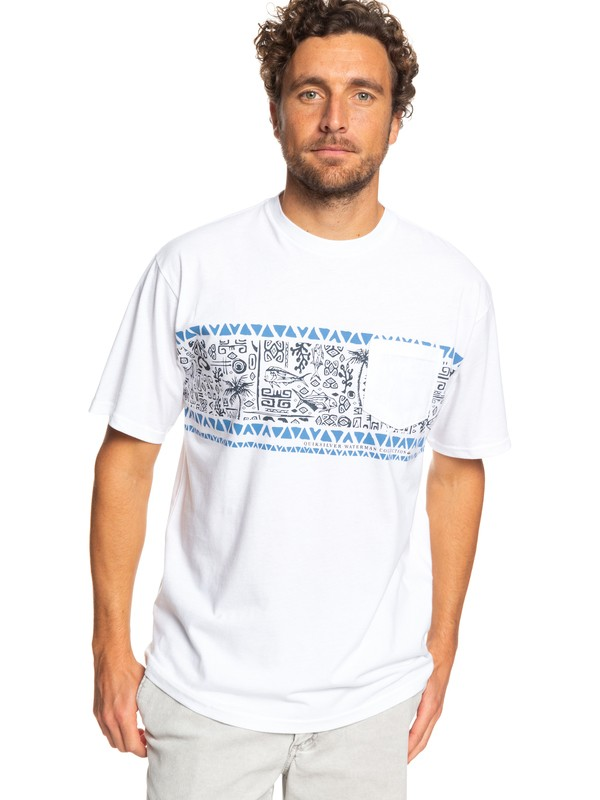 0 Waterman Coco Island Tee White AQMZT03369 Quiksilver