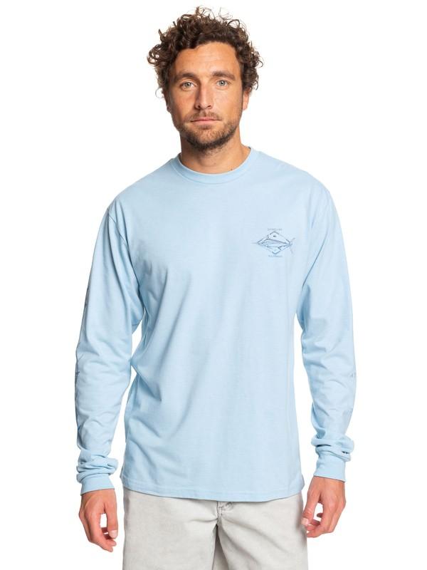 0 Waterman Tuvalu Long Sleeve Tee Blue AQMZT03371 Quiksilver