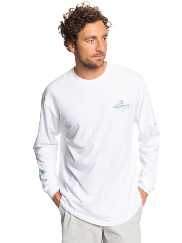 0 Waterman Tuvalu Long Sleeve Tee White AQMZT03371 Quiksilver