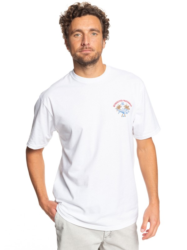 0 Waterman Aquation Hawaii Tee White AQMZT03372 Quiksilver