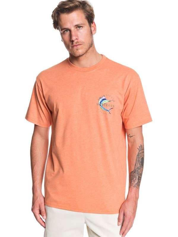 0 Waterman Reel Stoke - T-Shirt for Men Naranja AQMZT03376 Quiksilver