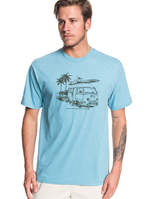 0 Waterman Day Shift Tee Blue AQMZT03377 Quiksilver