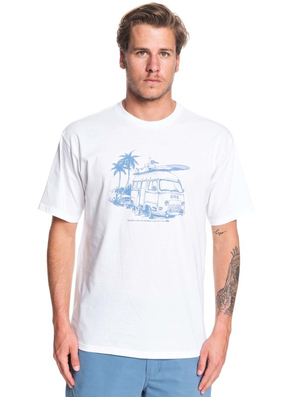 0 Waterman Day Shift Tee White AQMZT03377 Quiksilver