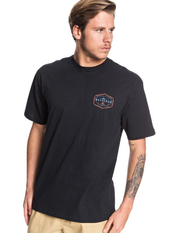 0 Waterman Anchored Mission Tee Black AQMZT03380 Quiksilver