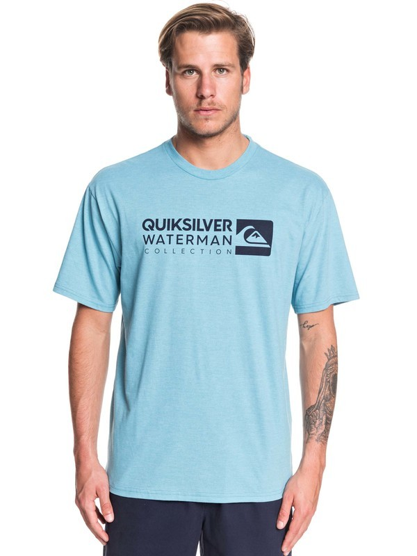 0 Waterman Staple Sandwich Tee Blue AQMZT03382 Quiksilver